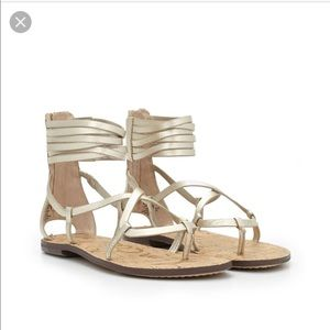 Sam Edelman Ginette gold gladiator sandals